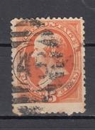 "USA 15 C. Webster  Michel 43 I  1870 -  ""46"" Balken-Ring-Stempel - 1847-99 Unionsausgaben"