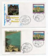 Italia-1988- Lotto 2 Buste FDC- Serie Turistica-Castiglione Della Pescaia (GR)-Con Doppio Annullo Filatelico-(FDC1011) - F.D.C.