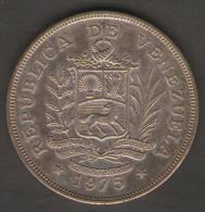 VENEZUELA 25 BOLIVARES 1975 AG SILVER - Venezuela