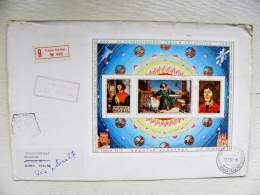 Cover From Mongolia To Italy 1973 Fdc Special Cancel Registered M/s Blok Copernicus Astronomy Space - Mongolia