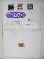 Cover From Mongolia To Italy 1974 Fdc Special Cancel Registered MI 883/85 - Mongolia