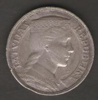 LETTONIA 5 PIECI LATI 1931 AG SILVER - Letonia