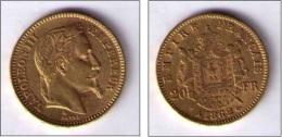 20 FRANCS NAPOLEON III GOLD 1862 - Francia