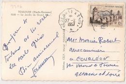 Convoyeur De Ligne, TOULOUSE A BRIVE Sur CP. 1957. - Marcofilia (sobres)