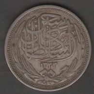 Egypt - King Hussein - 10 Piastres (1916) BRITISH PROTECTORATE AG SILVER - Egitto