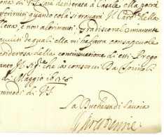 Christine De FRANCE (1606-1663) Duchesse De Savoie - TURIN 1638 Torino Casale Troupes Suisses Guerre - Autographes