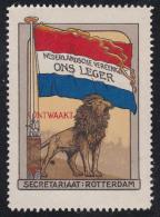 NETHERLANDS - ERRINOPHILIE / CINDERELLA : NEDERLANDSCHE VEREENIGING ONS LEGER / ONTWAAKT / LION & FLAG ~ 1912 - ´15 - Cinderellas