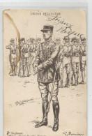 Militaria - Légion étrangère  3 Em Régiment Officier Tenue De Prise D´armes écrite En 1939 , Illustrée Illustrateur - Uniformes
