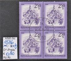 """24.5.1974 - FM/DM """"Schönes Österreich - S 2,50 Mattviolett""""  - 4 X O Gestempelt  - Siehe Scan (1586o X4) - 1971-80 Usados"""