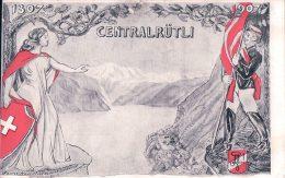 Carte Etudiant, Centralrütli 1307 - 1907 (11.11.07) Trou De Punaise - Ecoles
