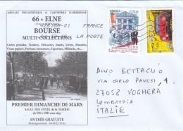 Francia 2016 - Busta X L'Italia Affrancata Con 2 Stamps - France