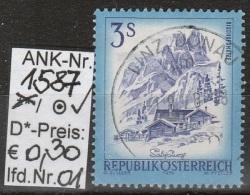 """22.3.1974 - FM/DM """"Schönes Österreich"""" S 3,00 Kobaltblau  - O Gestempelt  - Siehe Scan (1587o 01-30) - 1971-80 Usados"""
