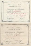 Prytanée National Militaire/ 2 Témoignages De Satisfaction/ Chédeville/ La Flêche/1917    CAH116 - Diplômes & Bulletins Scolaires