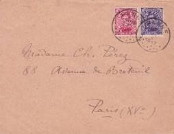 Belgique - COB 138 Et 139 Sur Lettre De La Panne à Paris - 1917 - Guerre 14-18