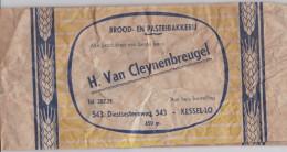 KESSEL-LO-OUDE-BROODZAK-H. VAN CLEYENBREUGEL-DIESTERSTEENWEG 543-AFMETING + - 14,5 OP 32 CM-ZIE 2 SCANS - Leuven
