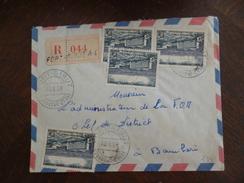 Lettre Colonies Françaises AEF Avec 4 TP En Recommandé Fort Sibut Pour Bambari 1958 - A.E.F. (1936-1958)