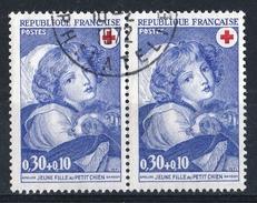France 1971 - Timbres Yvert&Tellier N° 1700 Se Tenant (en Paire) Avec Cachet Rond D'époque. - France