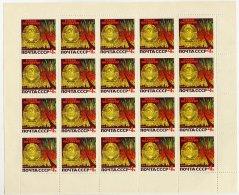 SOVIET UNION 1966 October Revolution 4 K. Sheet Of 20 MNH / **.  Michel 3263 - 1923-1991 USSR