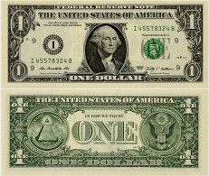 U.S.A.       1 Dollar       P-530       2009       UNC  [letter I: Minneapolis] - Federal Reserve (1928-...)