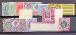 Great Britain 1902 Edward VII Set Of 15 Fine UM