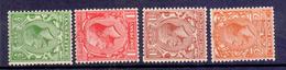 Great Britain 1924 Geoge V Block Cypher Sideways Watermark Set Of 4 Fine UM - 1902-1951 (Re)