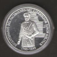 VENEZUELA 100 BOLIVARES 1983 AG SILVER - Venezuela