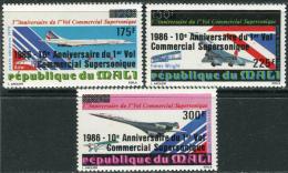 Mali 1986. Michel #1085/87 MNH/Luxe. Concorde (Ts27)
