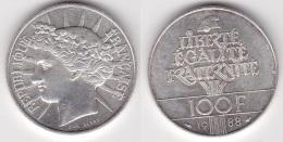 100 FRANCS FRATERNITE 1988 - En Argent  SUPERBE (voir Scan) 2 - France