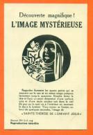 """CPA Decouverte Magnifique - L´image Mysterieuse """" Sainte Thérèse """"  FJC7 - Contre La Lumière"""