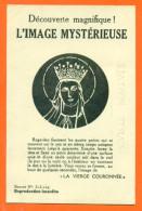 """CPA Decouverte Magnifique - L´image Mysterieuse """" La Vierge Couronnée """" FJC7 - Contre La Lumière"""