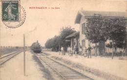 10 - AUBE - MONTSUZAIN - La Gare - Arrivée Du Train - Sonstige Gemeinden