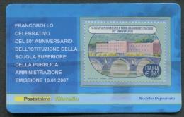 ITALIA TESSERA FILATELICA 2007 - ANNIVERSARIO ISTITUZIONE SCUOLA SUPERIORE PUBBLICA AMMINISTRAZIONE - 164 - 6. 1946-.. Republik