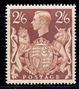 Great Britain 1939 SG 476 2sh6d Brown Fine UM - 1902-1951 (Re)