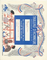 Diplome/Tableau D´Honneur Décerné à L´Eléve Christian Boizard/Ville De Paris/RF/ 3éme   Trimestre 1958-1959 CAH140 - Diplômes & Bulletins Scolaires