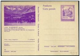Austria/Autriche: Intero, Stationery, Entier, Lago E Monti, Lake And Mountains, Lac Et Montagnes - Geography