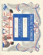 Diplome/Tableau D´Honneur Décerné à L´Eléve Christian Boizard/Ville De Paris/RF/ 2éme   Trimestre 1960 CAH141 - Diplômes & Bulletins Scolaires