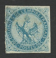 French Colonies, 20 C. 1865, Sc # 4, Mi # 4, Used - Eagle And Crown