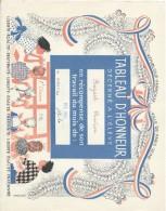 Diplome/Tableau D´Honneur Décerné à L´Eléve Christian Boizard/Ville De Paris/RF/ Décembre 1960 CAH142 - Diplômes & Bulletins Scolaires