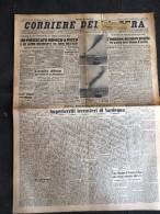 CORRIERE DELLA SERA 5-GIUGNO-1943-UN PIROSCAFO NEMICO A PICCO E UN ALTRO INCENDIATO DA AEREI DELL'ASSE- - Libri, Riviste, Fumetti