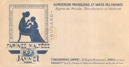 BUVARD JAMMET FARINES MALTEES  47 RUE DE MIROMESNIL PARIS VIII  POUILLARD PHARMACIEN - Produits Laitiers