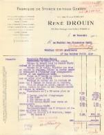 RENE DROUIN FABRIQUE DE STORES 29 RUE GRANGE AUX BELLES PARIS Xe  1925 - Frankreich