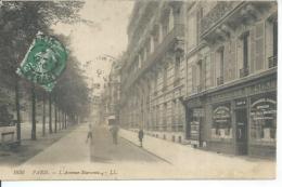1836 - PARIS - L'AVENUE MARCEAU  ( Animées - BLANCHISSERIE DU CYGNE ) - Arrondissement: 08