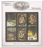 Gambia 2001, Postfris MNH, Flowers, Paintings - Gambia (1965-...)