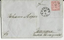 NORDDEUTSCHER POSTBEZIRK - 1869 - LETTRE De USINGEN Pour WALDSHUT - Deutschland