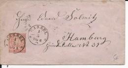 NORDDEUTSCHER POSTBEZIRK - 1868 - ENVELOPPE De KASSEL Pour HAMBURG - Deutschland