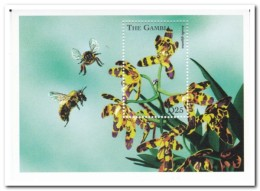 Gambia 1998, Postfris MNH, Flowers, Orchids, Bees - Gambia (1965-...)
