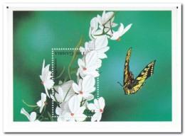 Gambia 1998, Postfris MNH, Flowers, Butterflies - Gambia (1965-...)