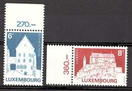 Luxembourg - 1982 - N° 1008 Et 1009  - Neufs ** - Châteaux - Neufs