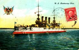 AC 645 - C P A-  BATEAU GUERRE  AMERIQUE -U S. BATTLESHIP OHIO - Warships