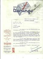 51 - Marne - REIMS - Facture DERUNGS -  Biscuits – 1946 - REF 43B - 1900 – 1949